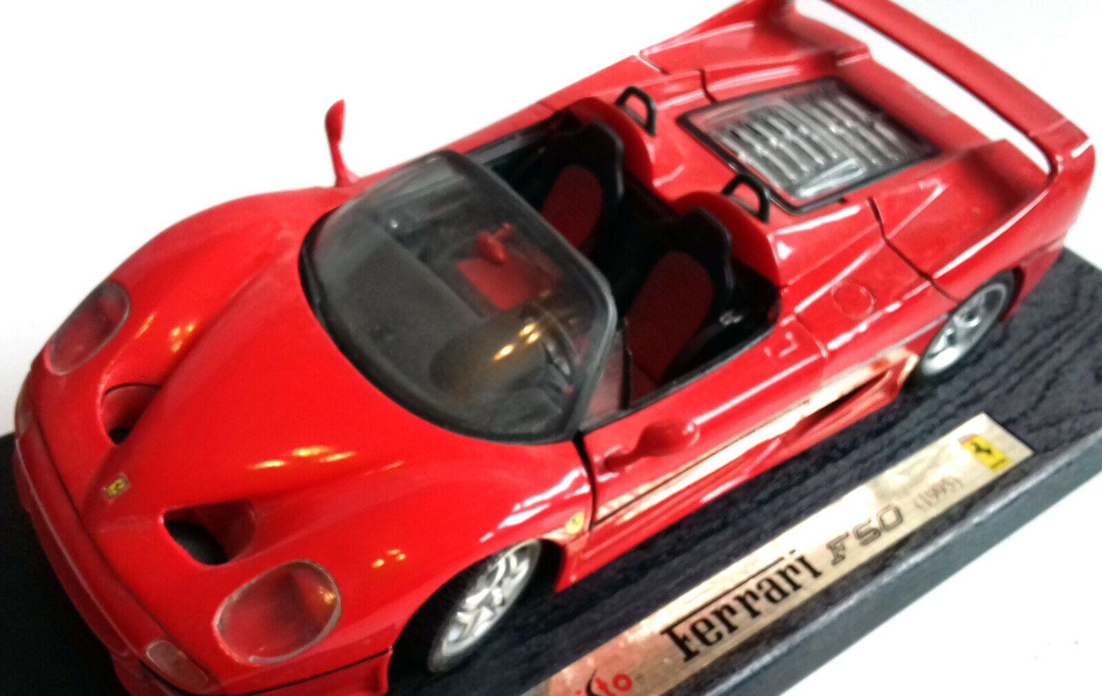 Maisto Toys 1 18 Scale Die cast Metal Metal Metal Ferrari F50 1999 Model Car red, FAST NEED c10239