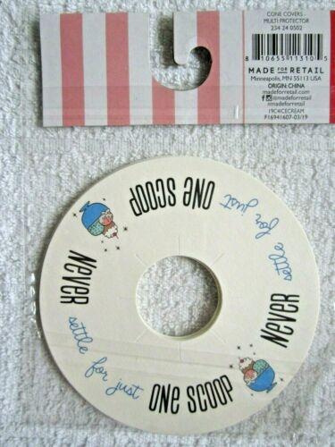 Set of 4 Ice Cream Social Party Sugar Cone Drip Protectors NIP