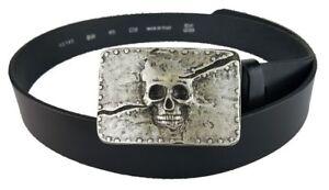 c86f428ce6cf31 Das Bild wird geladen Mittelalter-Metal-Lederguertel-Guertel -Buckle-Schnalle-Totenkopf-Skull-