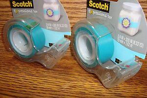 Scotch Expressions MatteTape 2 Rolls in despenser Decorating /& More Sky BLUE