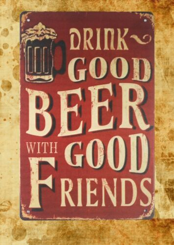 princess wall decals drink good beer with good friends tin metal sign US Seller