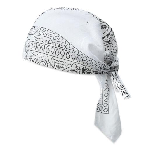 Men Women Quick Dry Cotton Pirate Hat Outdoor Sport Bandana Headscarf Cap