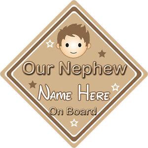 Personalizado De Niño//Bebé A Bordo Coche Firmar ~ Papi está niña a bordo ~ Marrón