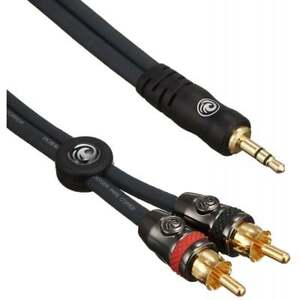 D-039-Addario-Planet-Waves-Accessories-Dual-RCA-to-1-8-034-Jack-Stereo-Audio-Cable-5ft