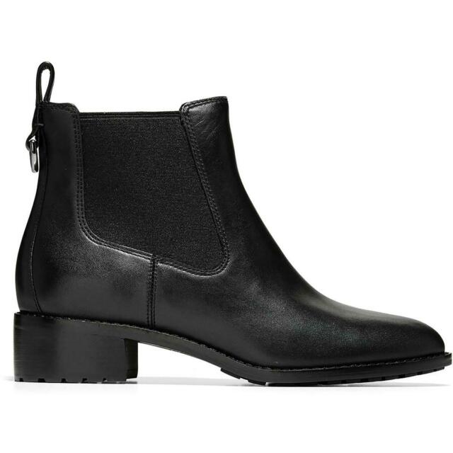 Cole Haan Womens Newburg Leather Ankle