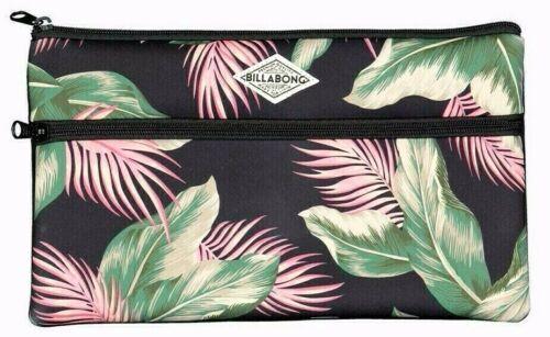 NWOT Girls Billabong Jumbo Neoprene Twin Compartment Pencil Case RRP $19.99