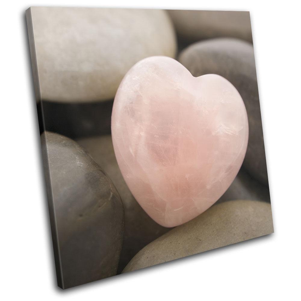 Heart Stone Pebble Love rosa Bathroom SINGLE TELA parete arte arte arte foto stampa 928df0