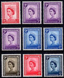 GB 1958-69 Isle of Man Pre-Decimal Definitive Set of 9 - Unmounted Mint