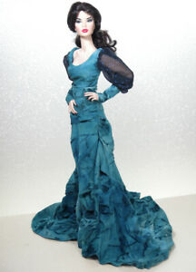 Turquoise-Ruched-Gown-by-KK-Fits-Fashion-Royalty-FR16-inch-Tyler-Sybarite