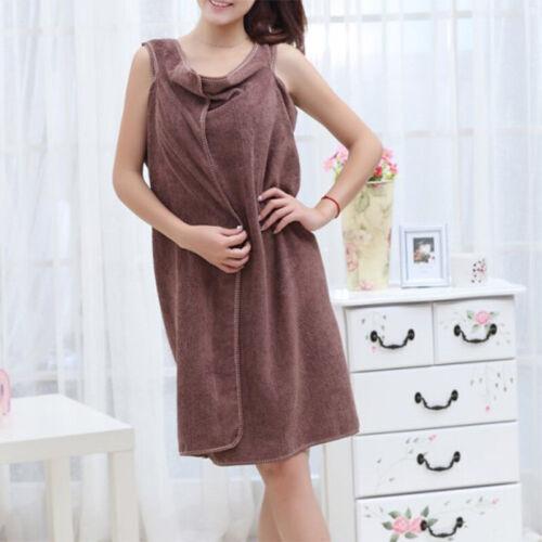 1Pcs Microfiber Bath Towel Bathrobe Camisole Dresses Quick Dry Comfort OW