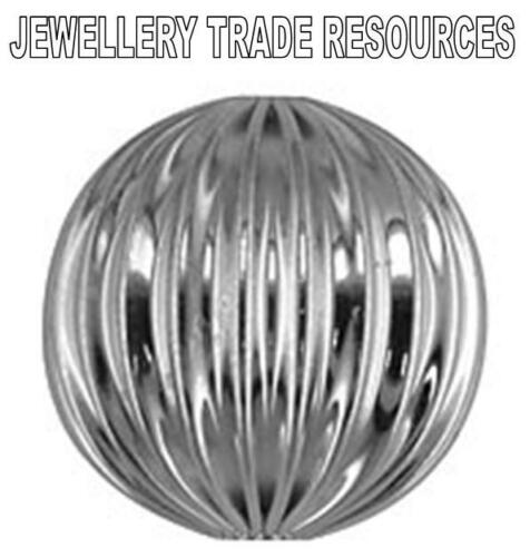 STERLING SILVER 13mm HOLLOW BEAD JEWELLERY MAKING CORRUGATED BEAD