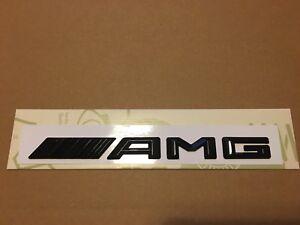 New-style-3D-Mercedes-AMG-Badge-Emblem-C-E-A-S-Class-Gloss-Black