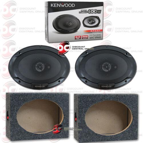 """KENWOOD KFC-6966S 6/""""x 9/"""" 3-WAY CAR AUDIO COAXIAL SPEAKERS PLUS 2 x SPEAKER BOXES"""