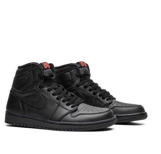 Nike Air Jordan 1 Retro High OG Triple Black 555088-022 Size 15