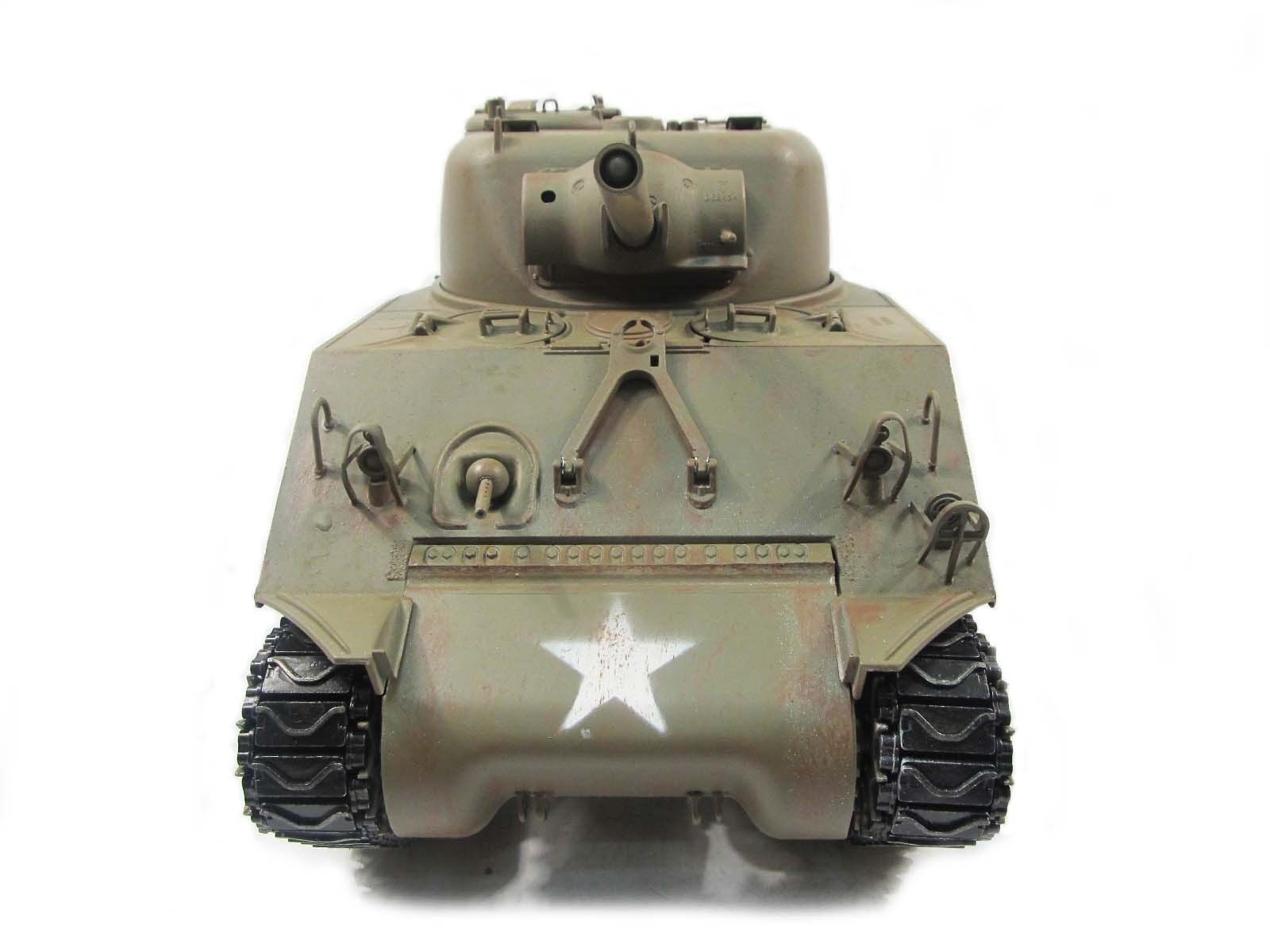Mato 1 16 All Metal M4A3 Sherman RTR RC Tank Infrarosso Recoil Army verde 1230