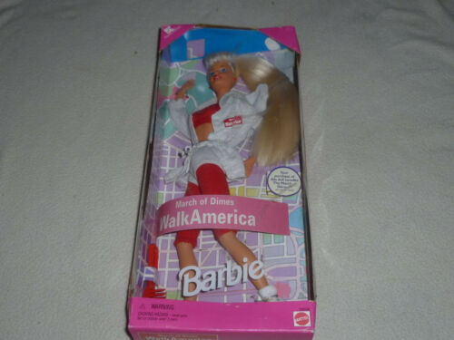 NEW MARCH OF DIMES WALK AMERICA BARBIE DOLL 1997 MATTEL 18506 KMART EXCLUSIVE >