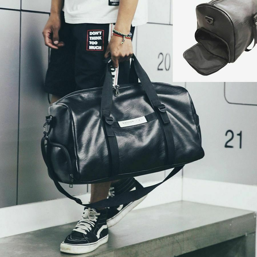 Waterproof Bag Leather Sports Bag Gym Fitness Yoga Training Handbag Duffle Bag