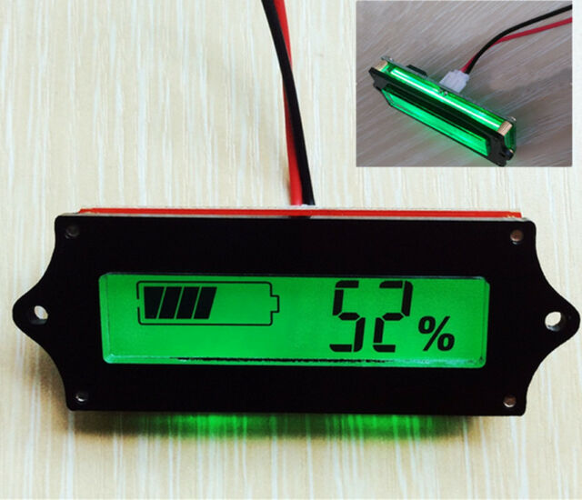 Lead-acid Lithium LiPo Battery 12V Power Capacity LCD Indicator Tester Voltmeter