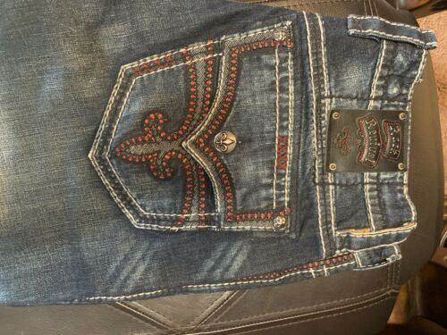 mens rock revival jeans 34x30