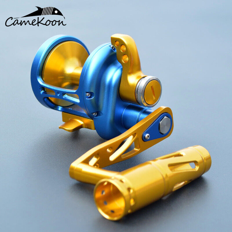 CAMEKOON TM Conventional Saltwater Lever Drag Reel All Aluminum Trolling Fishing