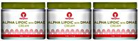 3 Bottles Alpha Lipoic Acid Dmae Cream Skin Enhanced Elasticity Complexion 12 Oz