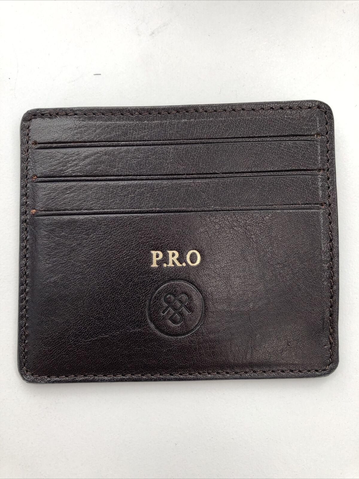 Maxwell Scott Luxury Italian Leather Dark Brown Marco Card Holder Rrp