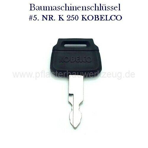 K250 für Kobelco Minibagger Radlader Bagger #5 Baumaschinenschlüssel Nr