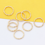 100p-Gold-Silver-Plated-Twisted-Open-Round-Ring-Jumprings-Connector-Craft-8-20mm thumbnail 11