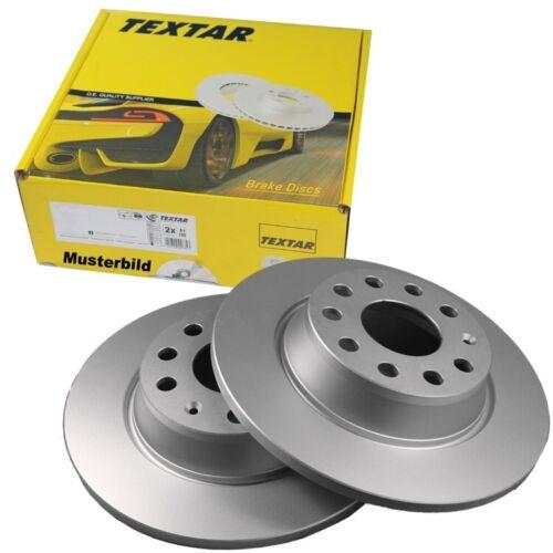 2 Textar Bremsscheiben 265mm hinten für Mazda 3 BK12 BK14