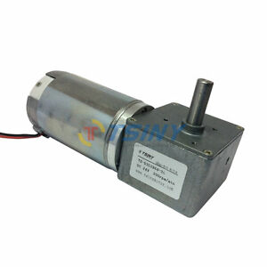 24vdc Geared Motor With Worm Gear Box 200rpm High Speed