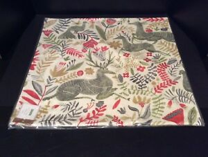Pottery Barn Llew Deer Pillow Cover Stag Reindeer Birds