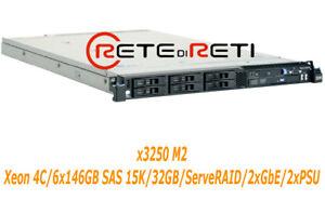 € 210+iva Server Ibm System X3550 M2 4c 6x146gb Sas 15k 32gb 2xpsu Dvd-rom 69ao3d0p-07174354-724768981