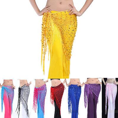 8 Colors Belly Dance Dancing Triangular Shawl Wrap Hip Scarf Dancewear Costumes