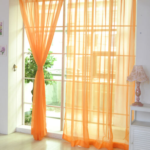 Coloful Floral Tulle Voile Door Window Curtain Drape Panel Sheer Scarf Divider