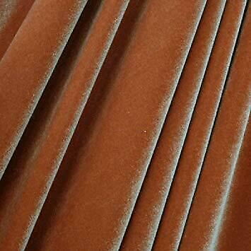 Copper 4 WAY Spandex Stretch Velvet Fabric By The Yard////Smooth Back French