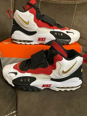 Nike Air Speed Turf Shoes Deion Sanders Gray Black Gold AV7895-001 NEW