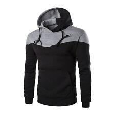 Winter Men Slim Hoodie Warm Hooded Sweatshirt Coat Jacket Outwear Sweater q3