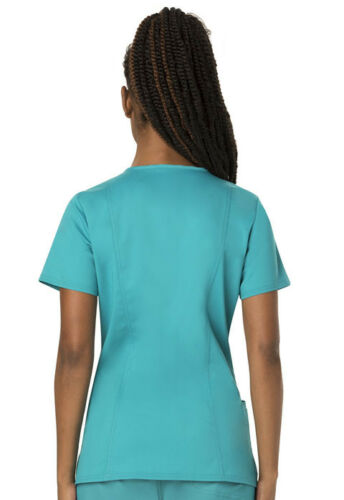 Cherokee Workwear Scrubs V Neck Top WW620 TLB Teal Blue Free Shipping