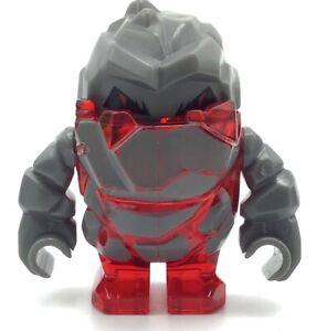 LEGO-Rock-Monster-Meltrox-Trans-Red-Minifigure-Power-Miners