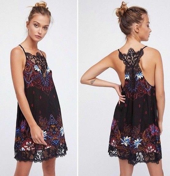 NWT FREE PEOPLE INTIMATELY WHO'S SORRY NOW LACE TRAPEZE SLIP DRESS L LARGE   SFS