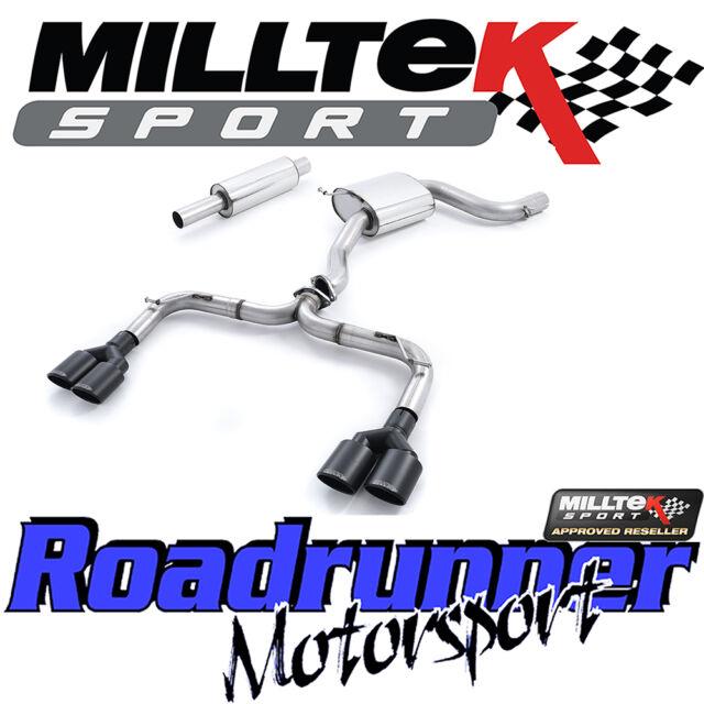 "Milltek SSXVW325 Golf GTI MK7 - R Style Exhaust 3"" Cat Back Non Res Rear Black"