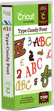 *New* ORIGINAL TYPE CANDY Font Letters Cricut Cartridge Free Ship Factory Sealed