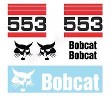Bobcat 553 Skid Steer Set Vinyl Decal Sticker Aftermarket Free Shipping