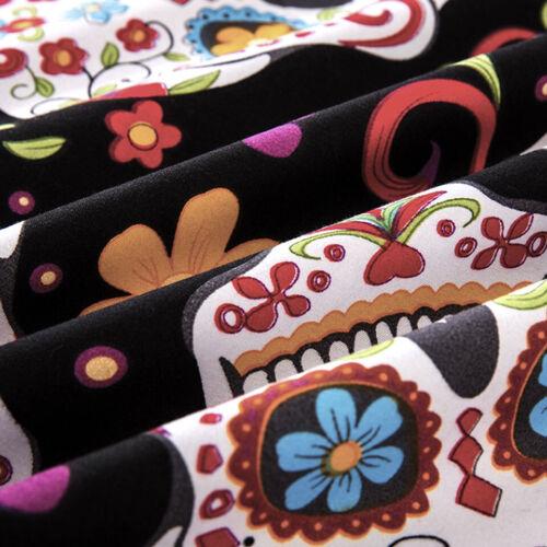 Gothic Cool Sugar Skull Flower Home Dorm Bedding Duvet Cover Set+Pillow Case