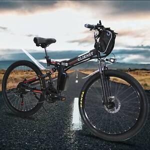 "26"" 36V Bicycle Folding Electric CLIENSY 350W City Mountain Bike Cycling EBike"