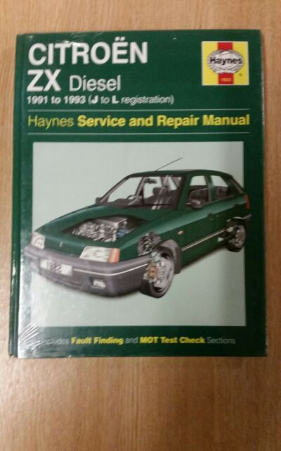 haynes citro n zx diesel 1905 cc owners workshop manual 1991 to 1993 rh ebay co uk