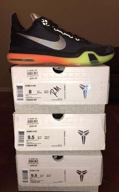 Nike - x 10 come all - star game nero asg volt jordan yeezy lotto 3 4 5 6 7 8