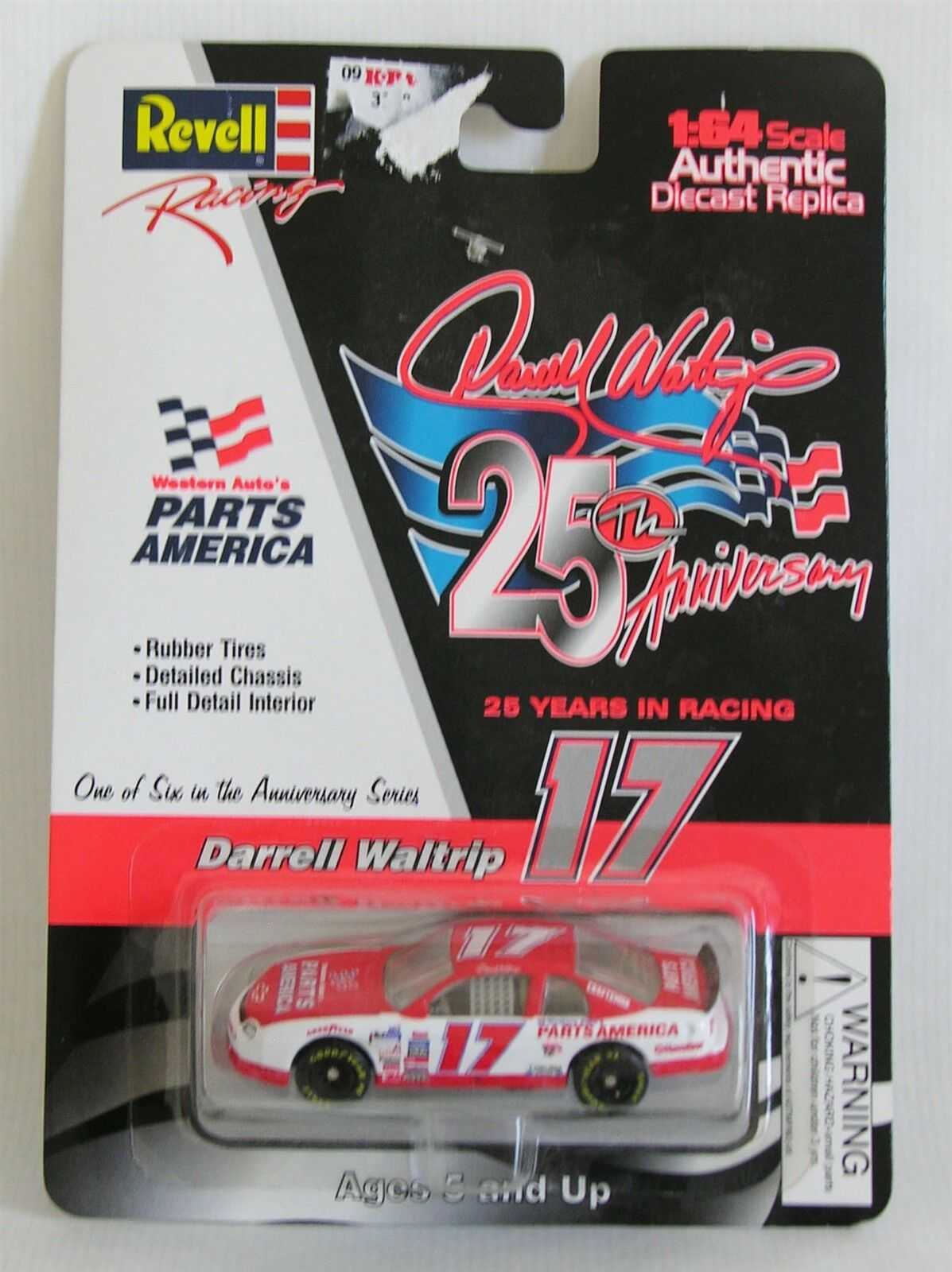NASCAR Revell Darrell Waltrip 25th Anniv 1 64 Red White Diecast 1997