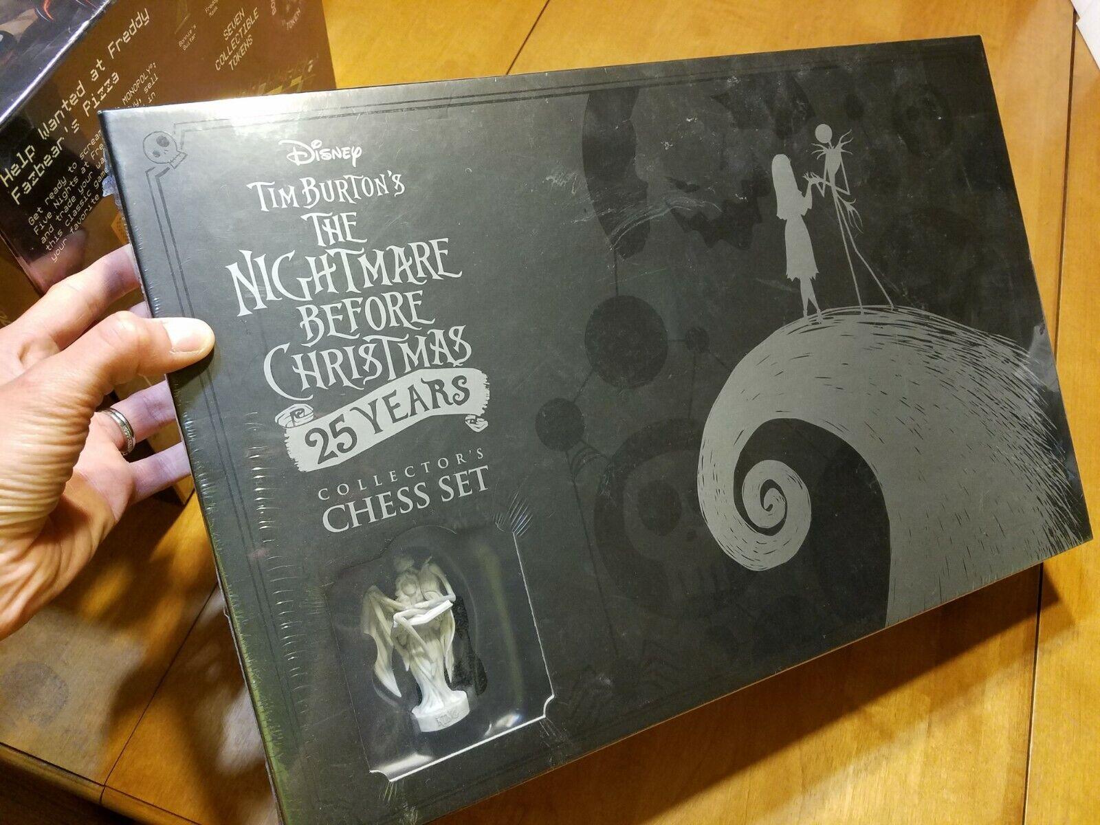 The Nightmare Before Christmas 25 Years gioco tavola  Collector's Chess Set  100% nuovo di zecca con qualità originale