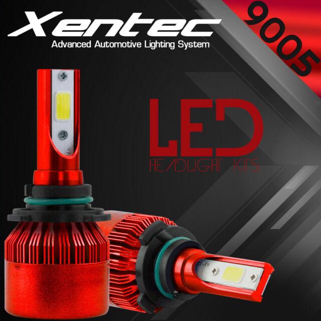2x XENTEC LC6 Series 9005 HB3 LED Headlight Kit High Beam 7600LM 6000K White COB